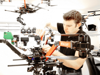 Many video photographers prefer to focus on the video and have an expert build and maintain the aircraft. Image: Drone Builders, UK.