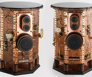 Empire Steam Steampunk speakers. When it comes to speaker design, practically anything goes in the search for perfection. And for many audiophiles, looks can be just as important as sound and cost is no object. The list price of these speakers is $12,600. Image: Empire Steam.