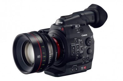 The C500 (pictured with a different lens) features true 4K and QHD motion video capture as well as the ability to record raw motion video to the Motion RAW format as well as raw still video to Still RAW format.