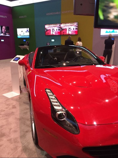 The new red Ferrari on display without a velvet rope in the ATSC exhibit was a Grand Lobby magnet.