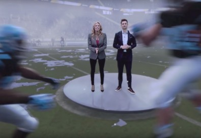 The Weather Channel used Frontier to create a video showing how weather can affect football games.  Click to enlarge.