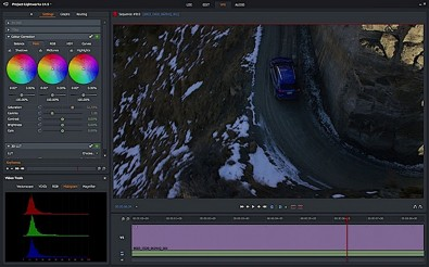 New histograms enhance the ability to color grade 4K material. Click to enlarge.