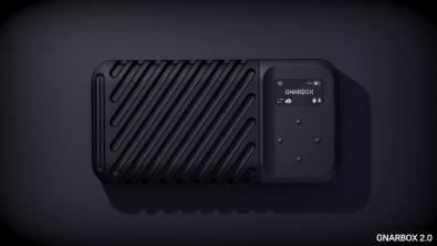 The gnarbox 2.0 SSD wireless hard drive