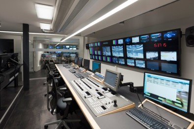 MySports studios are built identically, with the Rossens studio being remotely controlled from the Zürich studio (pictured).