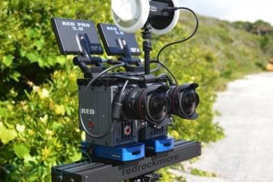 Stereoscopic video camera arrangement.