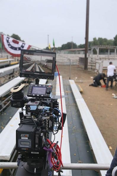 The Panasonic Varicam on set. Image courtesy of the Lasso production.
