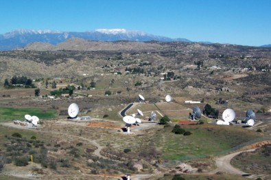 This Intelsat teleport is located in Riverside, CA.