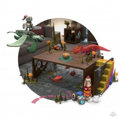 A view on mixed reality with the Magic Leap One.