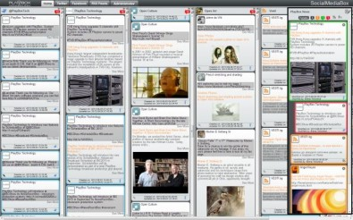 SocialMediaBox consolidates all social media on a single screen.
