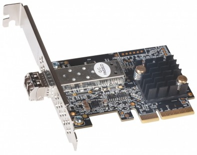 Solo10G™ SFP+ PCIe® Card 10 Gigabit Ethernet Adapter Card With 10GBASE-SR Optical Transceiver