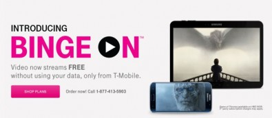 Many service providers offer enticing data rates to encourage customers to watch video on their smart phones. Image: T-Mobile