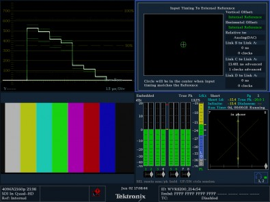 The WVR8200 is useful for 4K inter-link timing measurements.