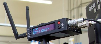 The 600 Series Teradek Cube encodes HD-SDI and HDMI to H.264 Wi-Fi.