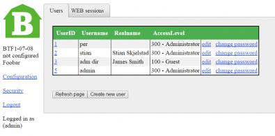 Barnfind Web Interface