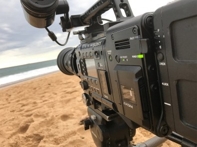 The AXS-R7 allows 120 fps recording at 4K resolution with the F55.