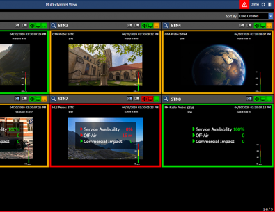 Vision provides easy multiple channel monitoring on a PC.