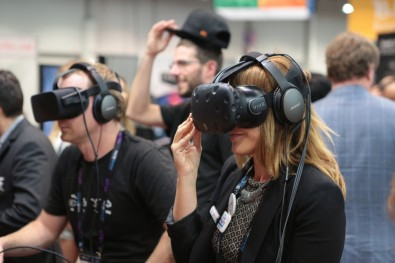 VR remained high on the list of experiences at NAB 2016.  All photography Robb Cohen.