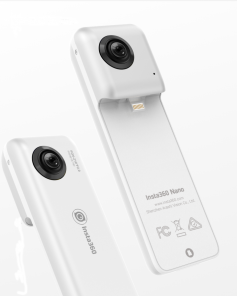 Figure 4: An Insta360 can be used as a self-contained Camera.