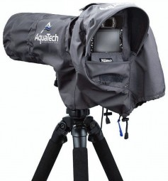 AquaTech Sport Shield, a camera rain cover.
