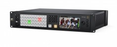 ATEM Constellation 8K features a compact 2RU rack mount design with a built in control panel.