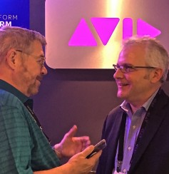 Jay with Avid's dir. of market solutions, Ray Thompson
