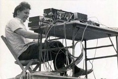 Bill Hanley operates sound at Woodstock, 1969.