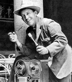 Bing Crosby with his AMPEX recorder