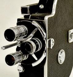 1960's era Bolex with three prime lenses.