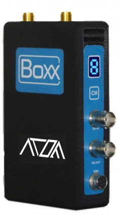 The Boxx TV Atom transmission system operates in the 5GHz band.