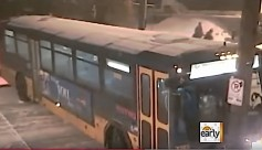 Video clip from of a Seattle, WA, bus sliding down an ice-covered street. See YouTube link above.