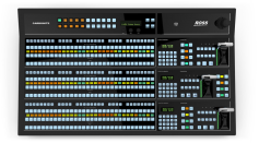 Ross Video showed single-link 12G/UHD switching capability in 2 and 3 SD/HD ME versions of its Carbonite Ultra UHD production switcher.