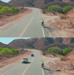 It's not just that the cars are gone, it's that the video keeps moving while they are gone.