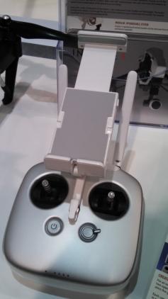 DJI flight controller w/ FPV display caddy