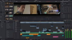 The edit screen of the new DaVinci Resolve 15, available now in public beta on the company's web site.