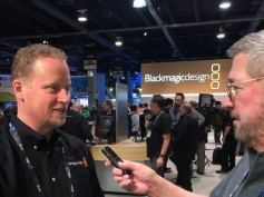 Dan May, president of Blackmagic Design, and Jay Ankeney of The Broadcast Bridge.