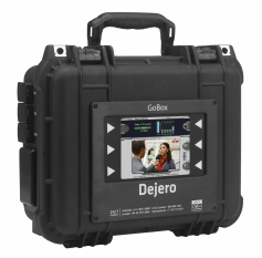 Dejero's LIVE+ GoBox is a professional-grade mobile transmitter for ENG and video content contributors who need to transmit from mobile locations.