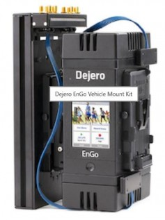 The Dejero Endgo vehicle mount kit will debut in Europe at IBC.