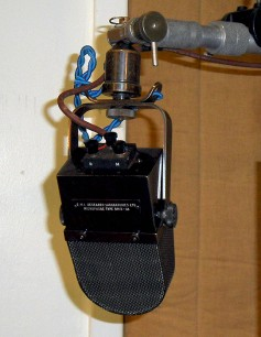 This Blumlein-designed ribbon mic from the mid 1930s still is in use at Abbey Studios. Click to enlarge.