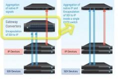 Figure 9: SFPs naturally integrate SDI inside an IP Network