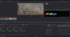 Figure 7: Davinci Resolve's Color room with RGB Parade and Vectorscope. Click to enlarge.