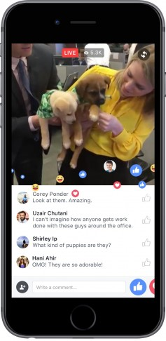 Facebook Live is aiming to combine interactivity and user generated content with premium video.