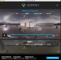 Figure 13: GoPro Omni Importer.