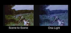 Figure 9: Scene-to-Scene verses One-light transfer.