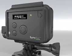 SyncBac PRO embeds timecode directly into a GoPro camera's MP4 file.