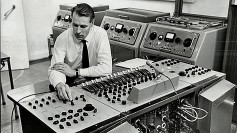 George Martin at Abbey Road Studio.