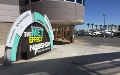 Sunday afternoon streets and sidewalks were ready for NAB Show exhibit visitor arrivals.