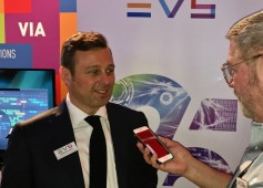 Sebastien Verlaine, marketing/communications manager, EVS and Jay Ankeney of The Broadcast Bridge