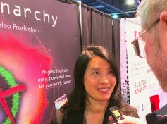 Serena Chang, vp of strategy at Digital Anarchy talks with Jay Ankeney of The Broadcast Bridge