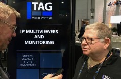 Jay Ankeney of The Broadcast Bridge talks with Pinky Maron, vp professional services, TAG V.S.