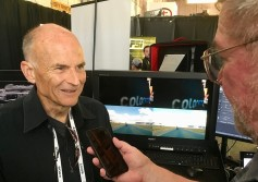 Colorfront's CTO William Feightner with Jay Ankeney of The Broadcast bridge